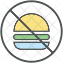 Burger Restricted Prohibition Icon