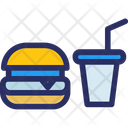 Burger Drink Fast Food Icon