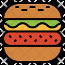 Hamburger Fastfood Sandwich Icon