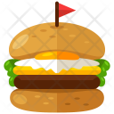 Burger Club Sandwich Icon