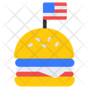 Burger Flag Burger Fast Food Icon