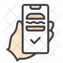 Burger Food Delivery Mobile App Icon