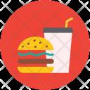 Burger Hamburger Drink Icon