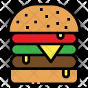 Hamburger Bun Fastfood Icon