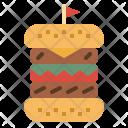 Hamburger Beef Sandwich Icon
