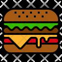 Hamburger Bread Fastfood Icon