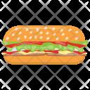 Burger Bread Bun Icon