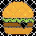 Cheeseburger Hamburger Fast Food Icon