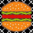 Hamburger Eat Restaurant Icon