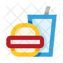 Burger And Cold Drink Icon