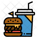 Burger And Drink Icon