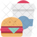 Burger And Juice Icon