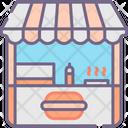 Burger Bar Burger Shop Bar Icon