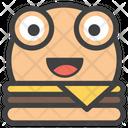 Burger  Emoji Icon