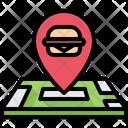 Burger shop location Icon