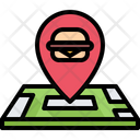 Burger Map Location Icon