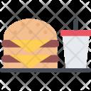 Burger Soda Cook Icon
