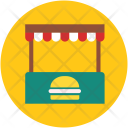 Burger Stall Stand Icon