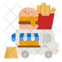 Burger Truck Burger Shipping Icon