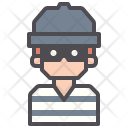 Burglar Robber Inmate Icon