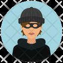 Burglar Woman Avatar Icon