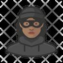 Burglar Black Female Burglar Black Icon