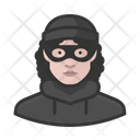 Burglar White Female Burglar White Icon