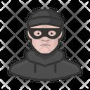 Burglar White Male Burglar White Icon