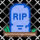 Halloween Rip Tombstone Icon
