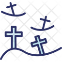 Burial Ground Cemetery Funeral Icon