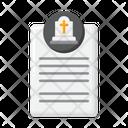 Burial Permission Certificate Icon