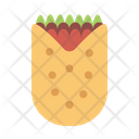 Burito Bread Bakery Icon
