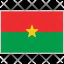 Burkina Faso Flag Icon