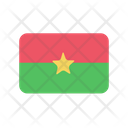 Burkina Faso Flag Country Icon