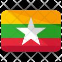 Burma Flag Country Icon