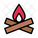 Burn Woods Campfire Icon