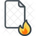Burn Fire Paper Icon