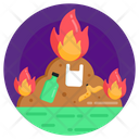 Destroy Garbage Burn Garbage Fire Garbage Icon