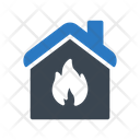 House Burn Building Icon