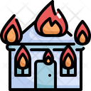 Fire House Natural Disaster Icon