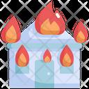 Fire House Burn Icon