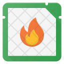 Burn Microchip Icon