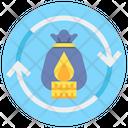 Burn Rate Money Rotation Startup Icon