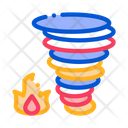 Wind Storm Fire Icon