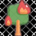 Tree Burn Natural Disaster Icon