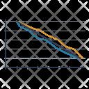 Burndown Chart Graphic Icon