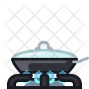 Burner Flames Frying Icon
