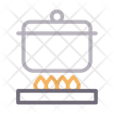 Burner Cooking Pot Icon