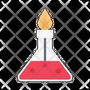 Flask Burner Science Icon