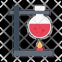 Flask Burner Lab Icon